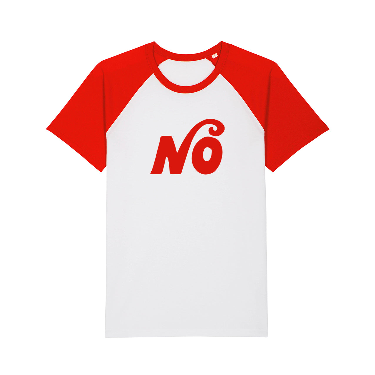 NO Baseball T-Shirt - White/Red