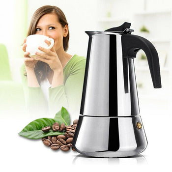 Stainless Steel Portable Espresso Machine