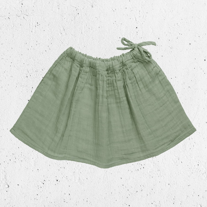 Numero 74 - Ava Long Skirt  - Kids - Sage Green - S049