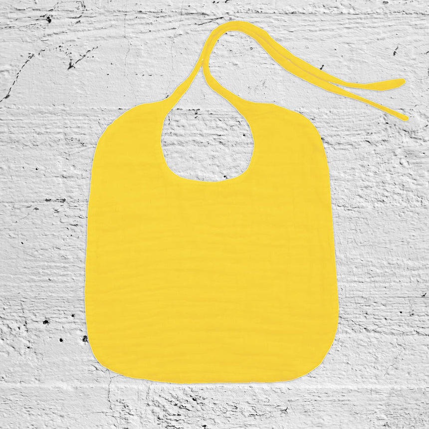 Numero 74 - Baby Bib Round - Sunflower Yellow - S028