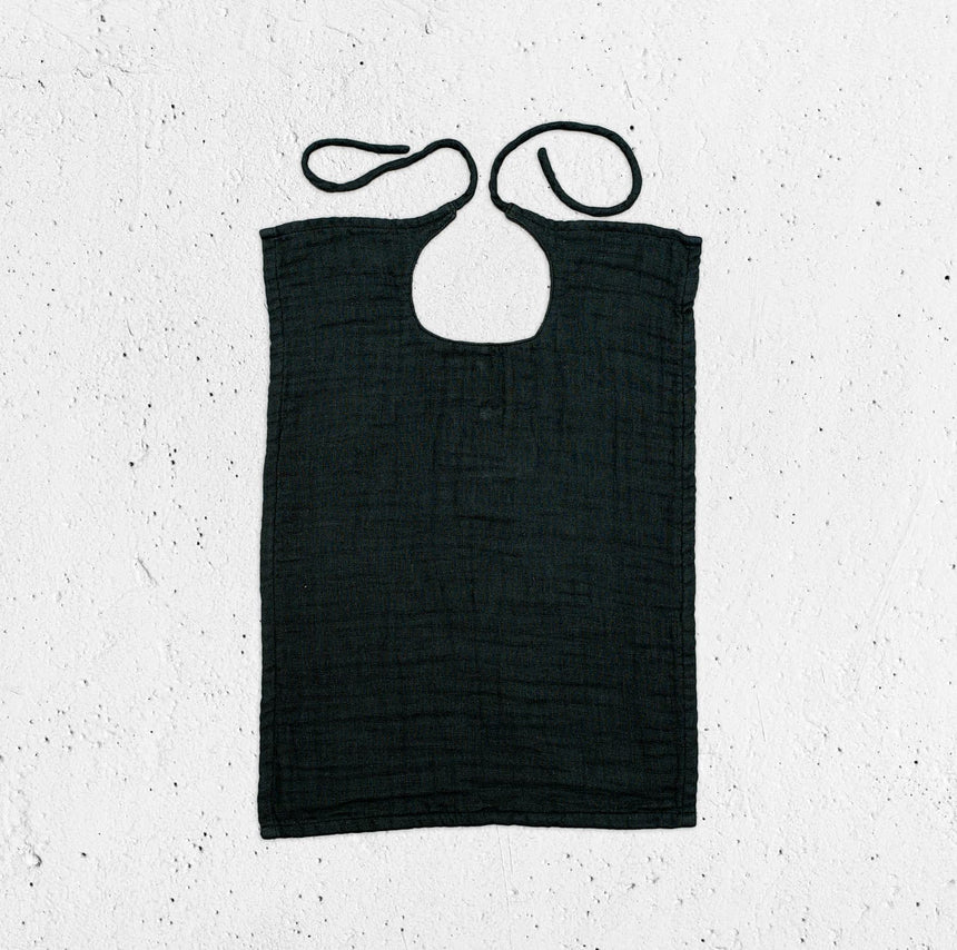 Numero 74 - Baby Bib Square - Dark Grey - S021