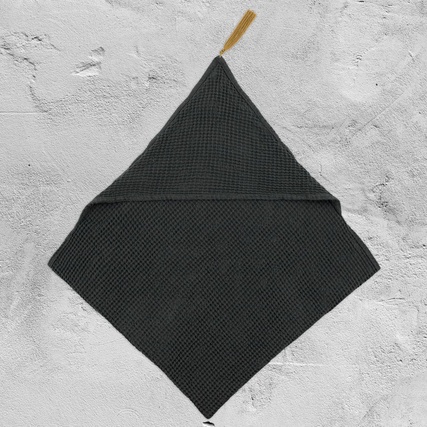 Numero 74 - Bath Towel Baby - Honeycomb - Dark Grey - S021