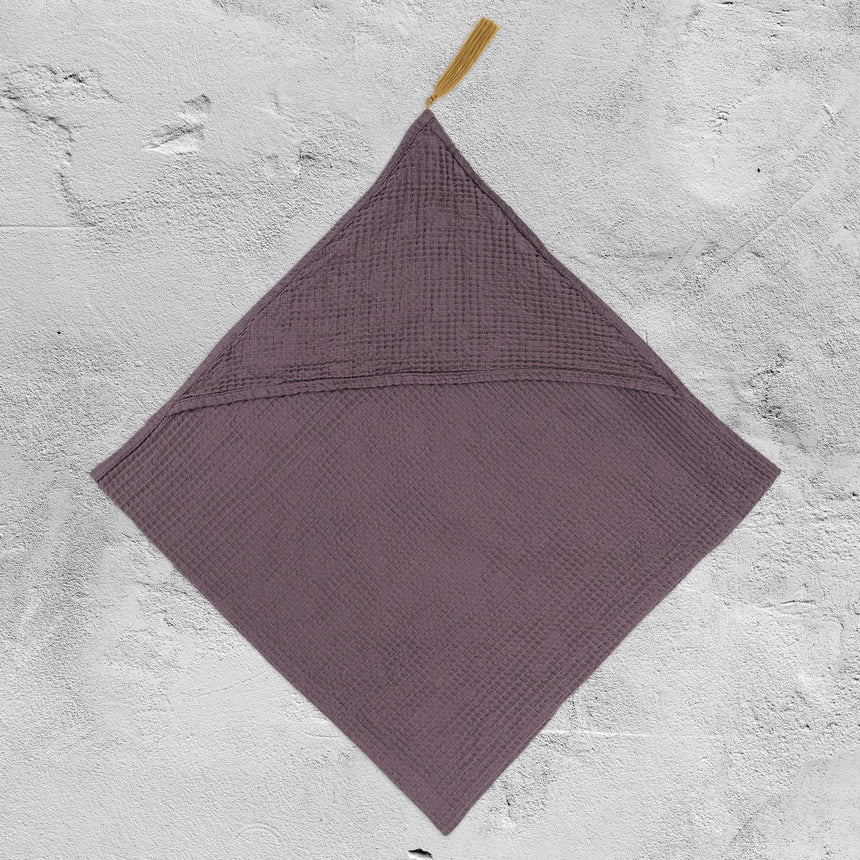Numero 74 - Bath Towel Baby - Honeycomb - Dusty Lilac - S041