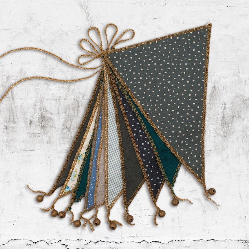 Numero 74 - Bunting Garland - Mix Blue - M005