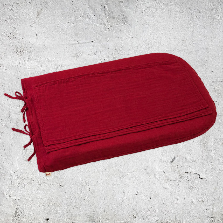 Numero 74 - Changing Pad Cover Round - Ruby Red - S027