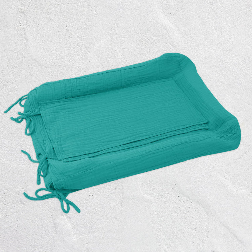 Numero 74 - Changing Pad Cover Square - Aqua Blue - S026