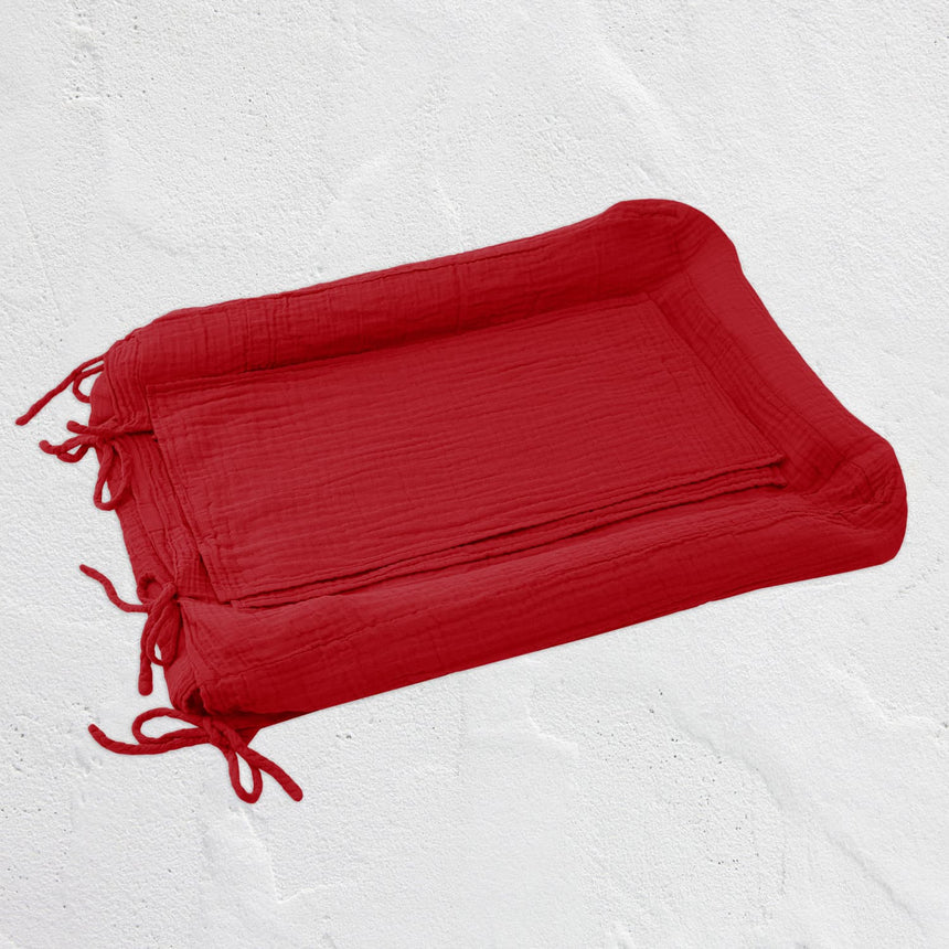 Numero 74 - Changing Pad Cover Square - Ruby Red - S027