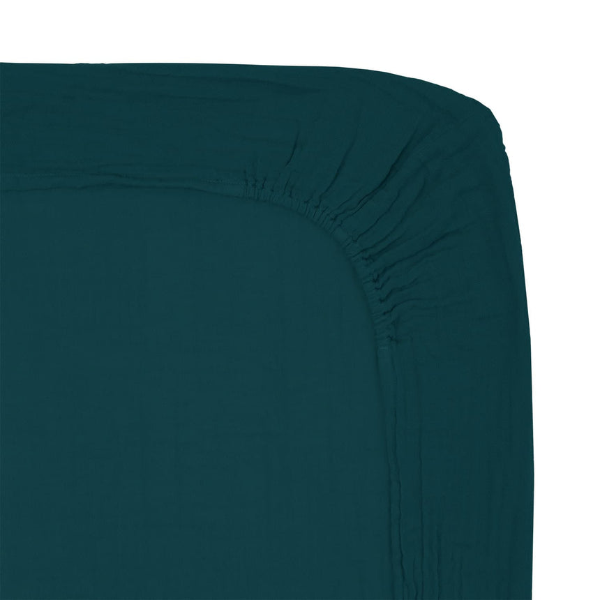 Numero 74 - Changing Pad Fitted Cover - Teal Blue - S022