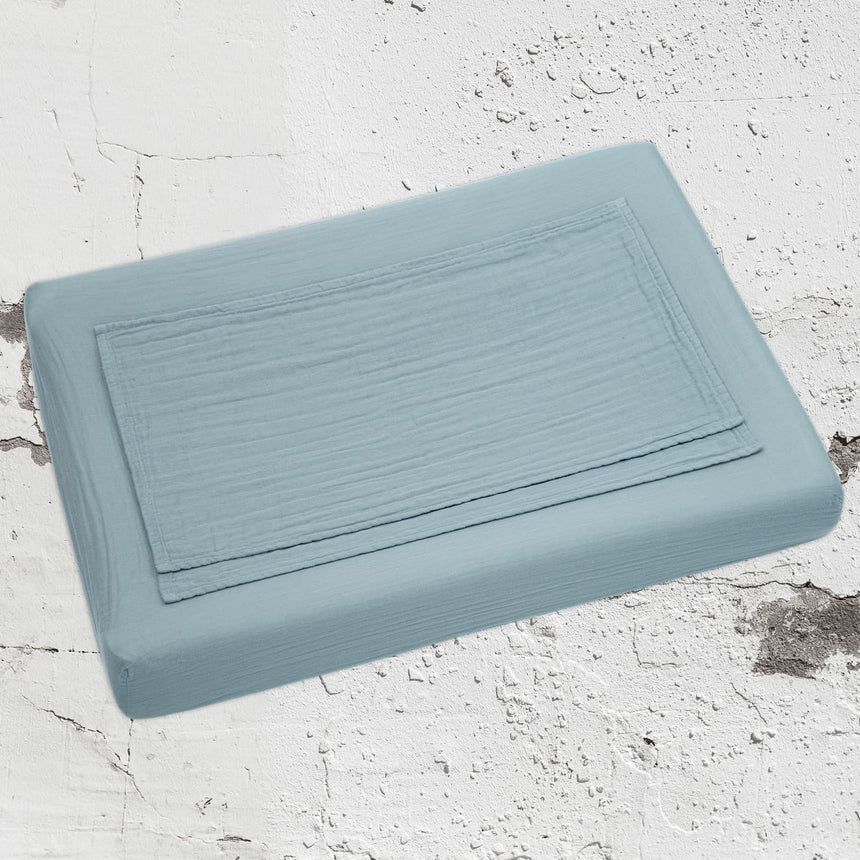 Numero 74 - Changing Pad Fitted Cover - Sweet Blue - S046