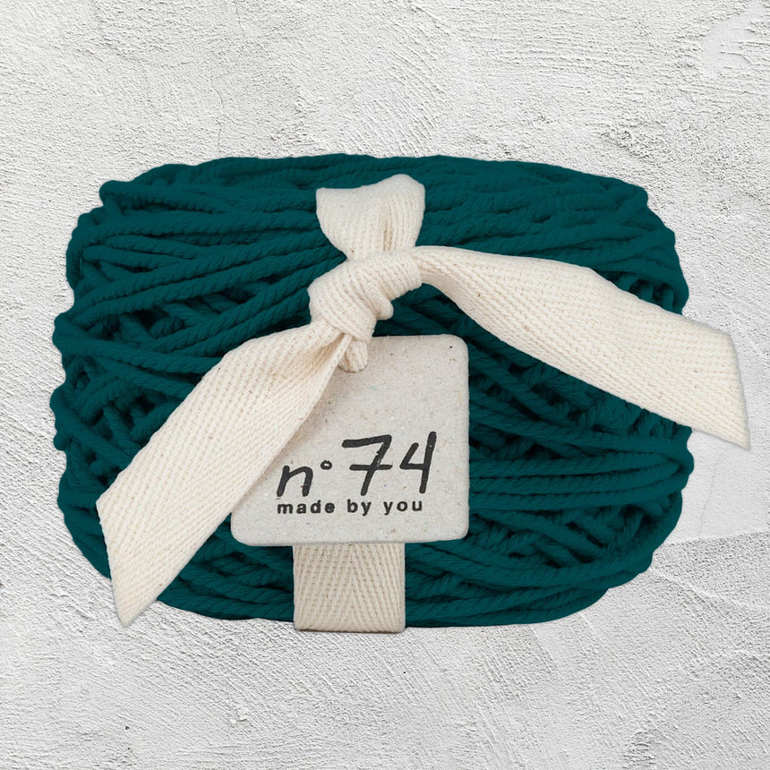 Numero 74 - Cotton Rope 3.5mm - Teal Blue - S022