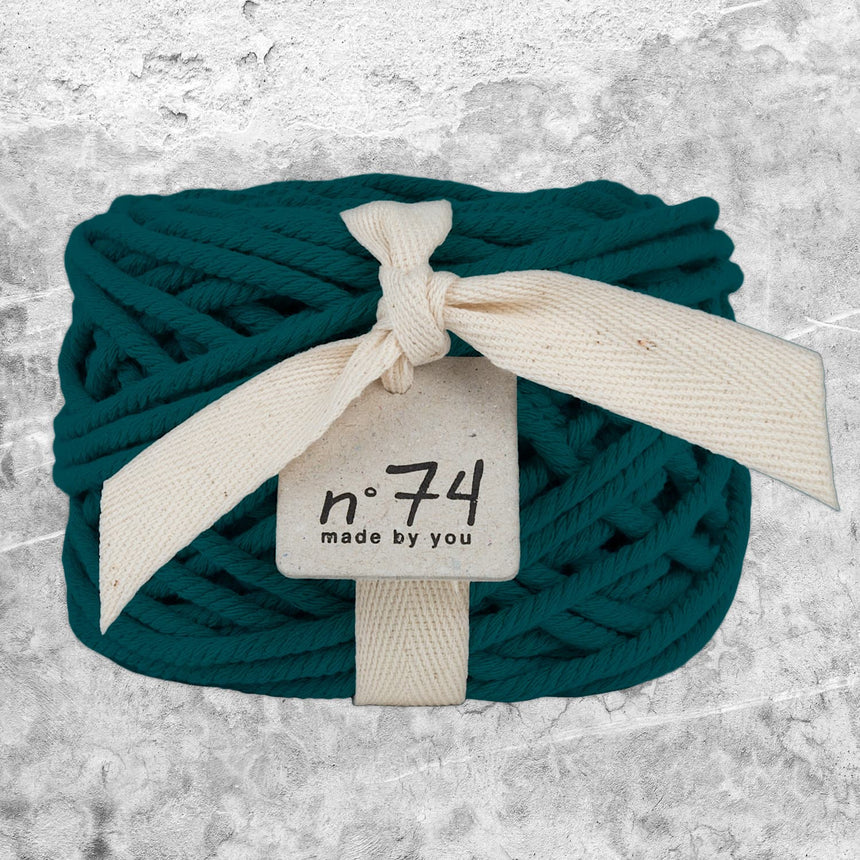 Numero 74 - Cotton Rope 5mm - Teal Blue - S022