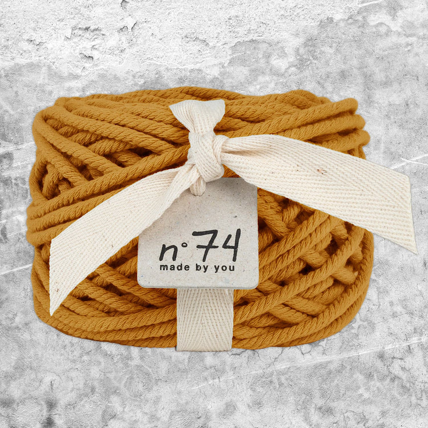 Numero 74 - Cotton Rope 5mm - Gold - S024
