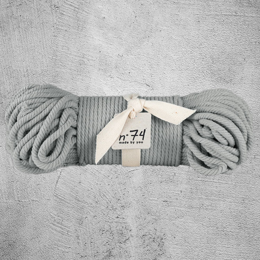 Numero 74 - Cotton Rope 7mm - Silver gey - S019