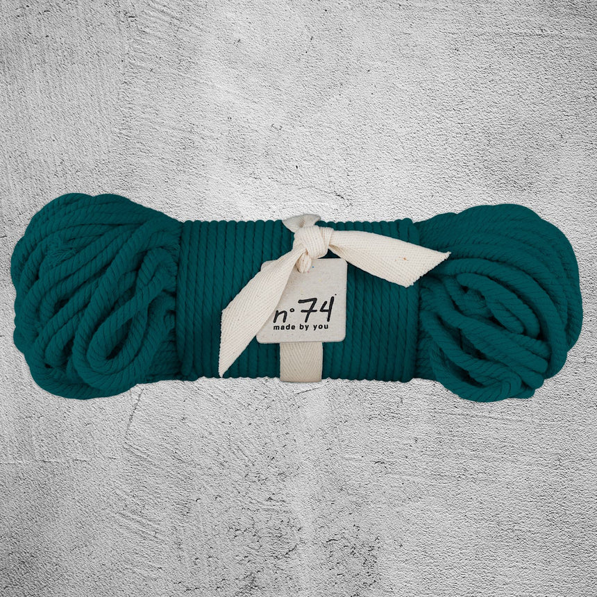 Numero 74 - Cotton Rope 7mm - Teal Blue - S022