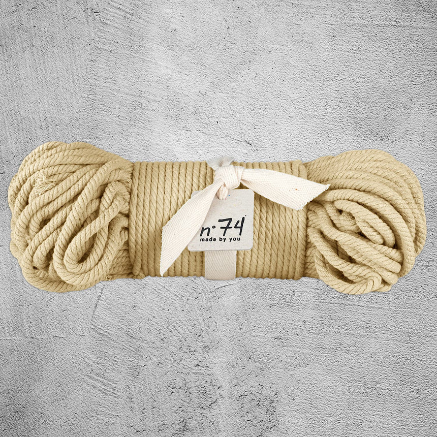 Numero 74 - Cotton Rope 7mm - Mellow Yellow - S048