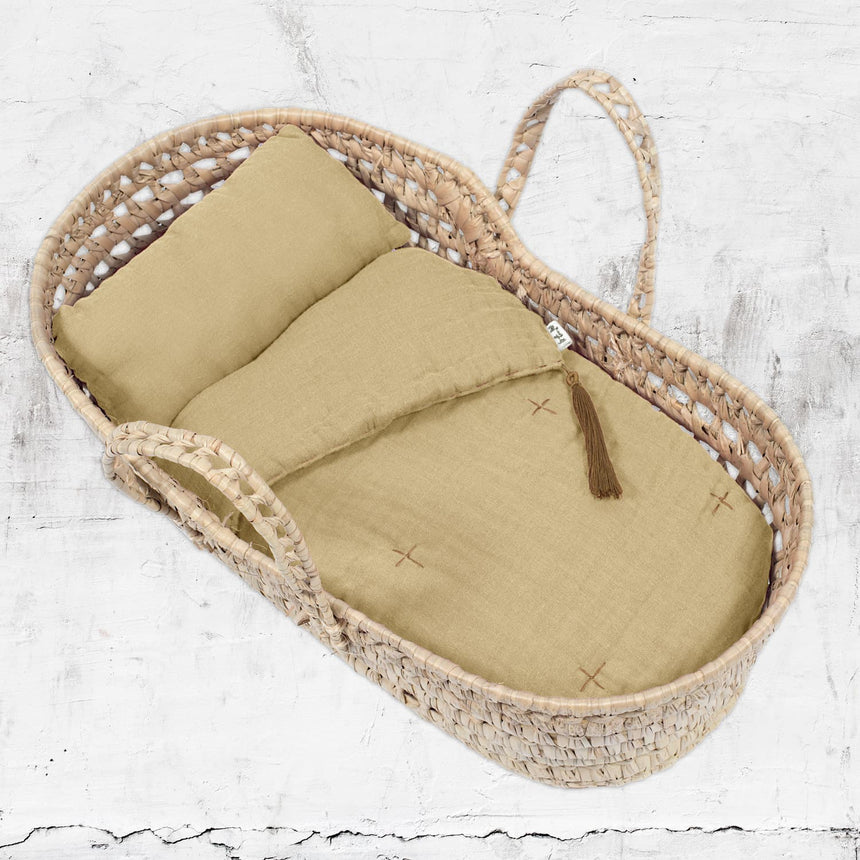Numero 74 - Doll Basket & Linen Set - Mellow Yellow - S048