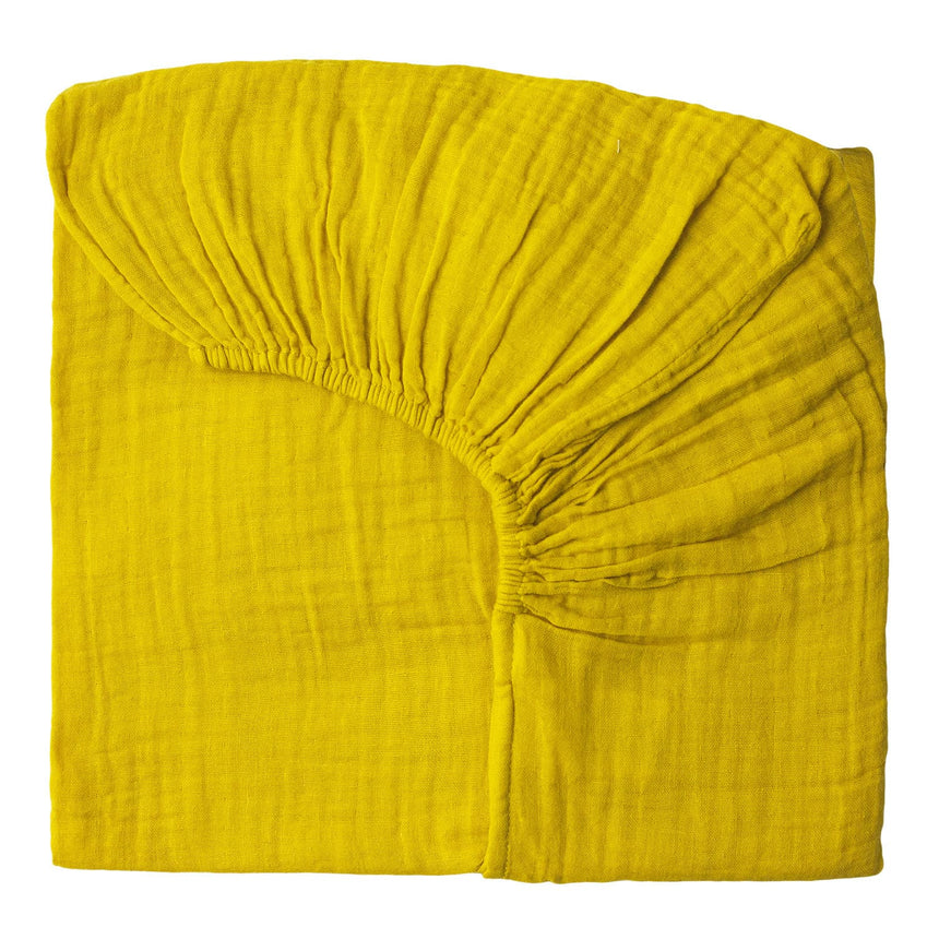 Numero 74 - Fitted Bed Sheet - Sunflower Yellow - S028