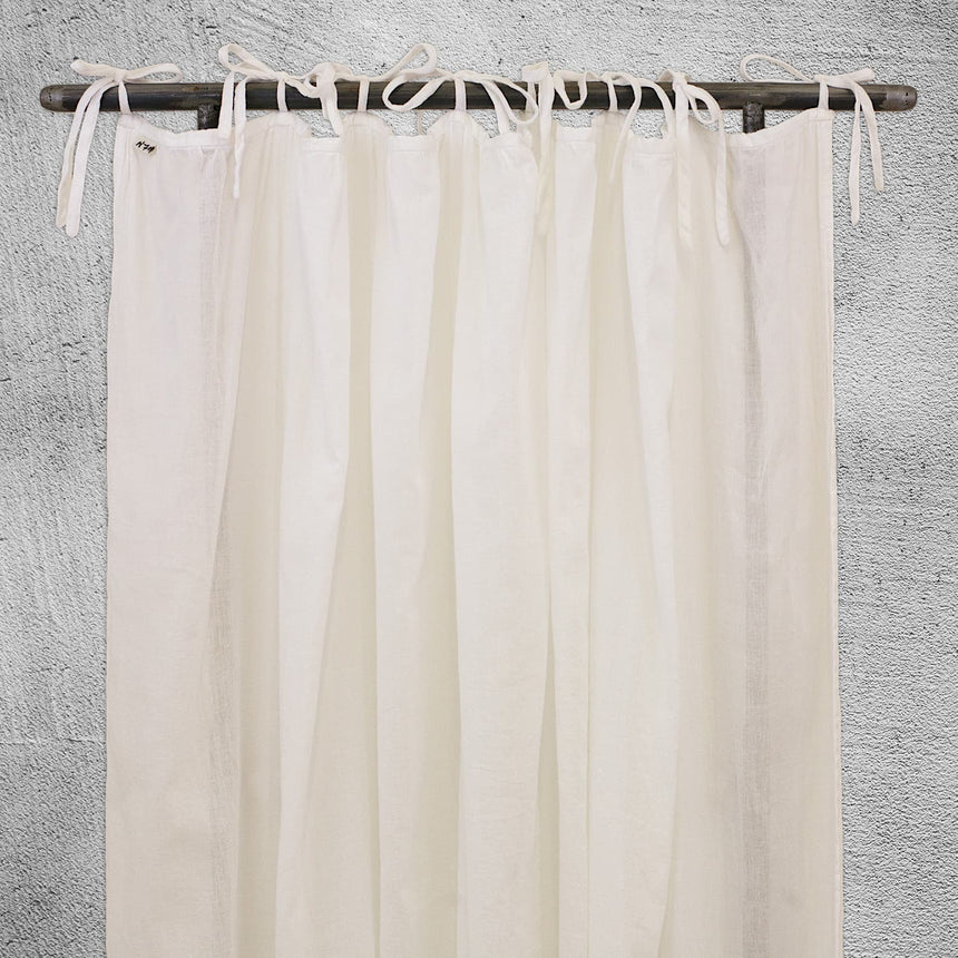 Numero 74 - Gathered Curtain Plain - Pale Peach - S047
