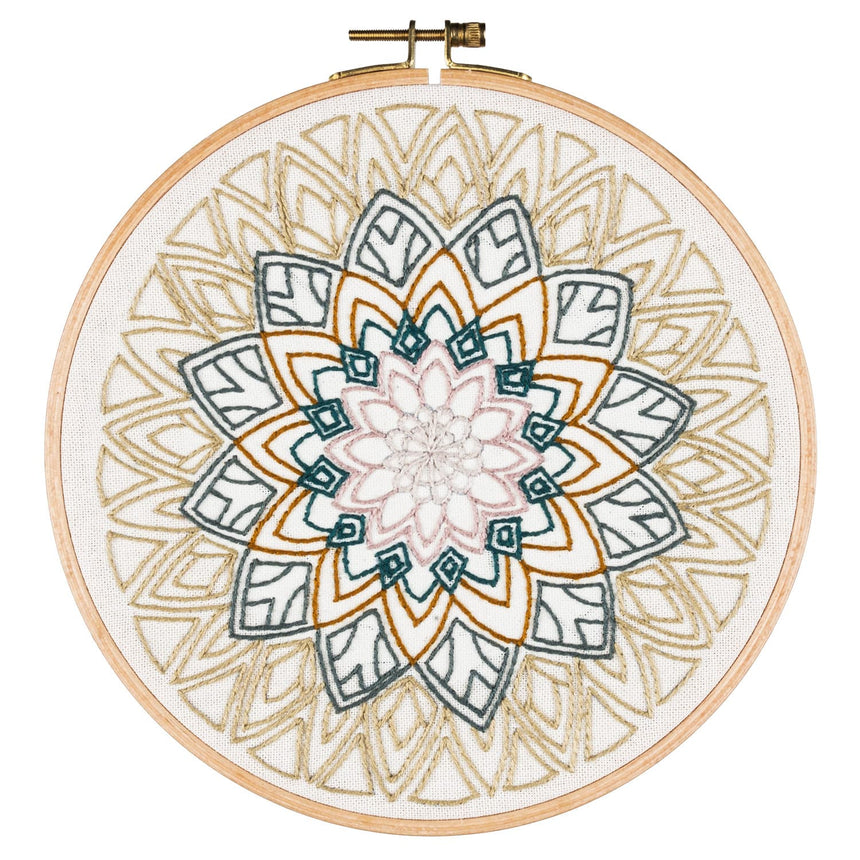 Numero 74 - Hoop Kit Mandala Rose - Natural-Multicolor - D117