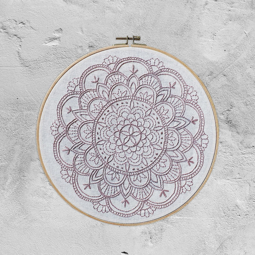 Numero 74 - Hoop Mandala Calm - Natural-Dusty Pink - D103