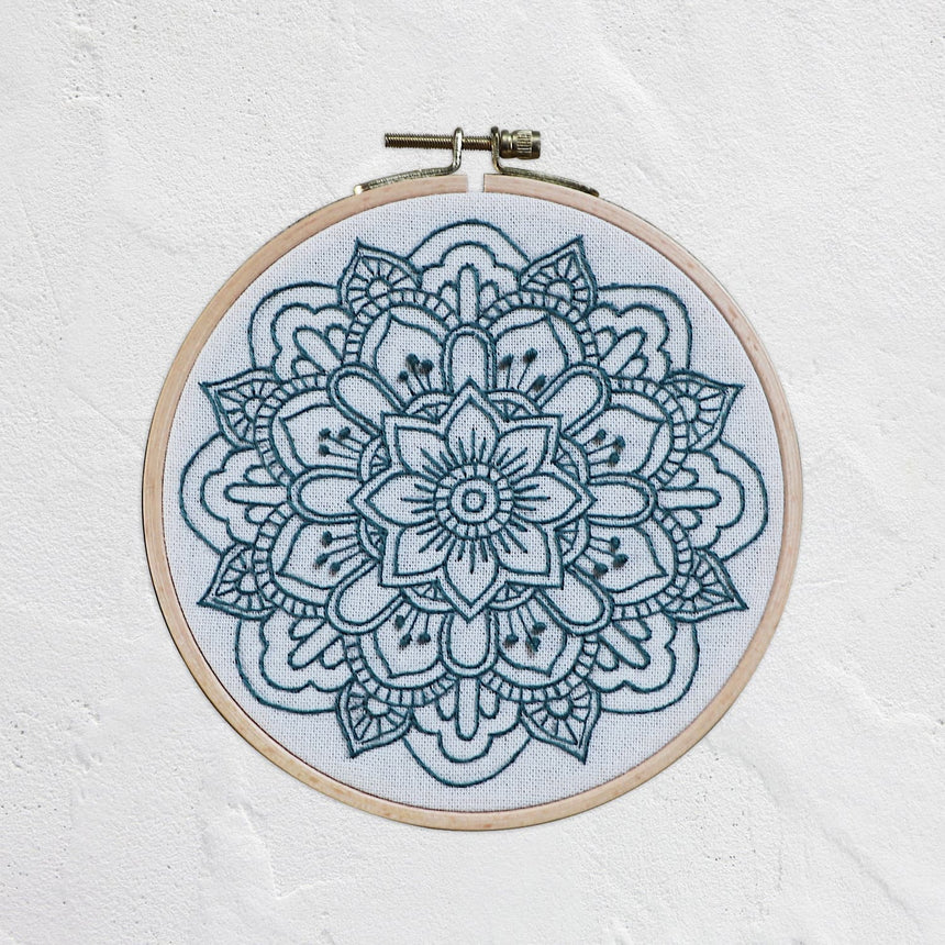 Numero 74 - Hoop Mandala Nature - Sweet Blue-Natural - D121