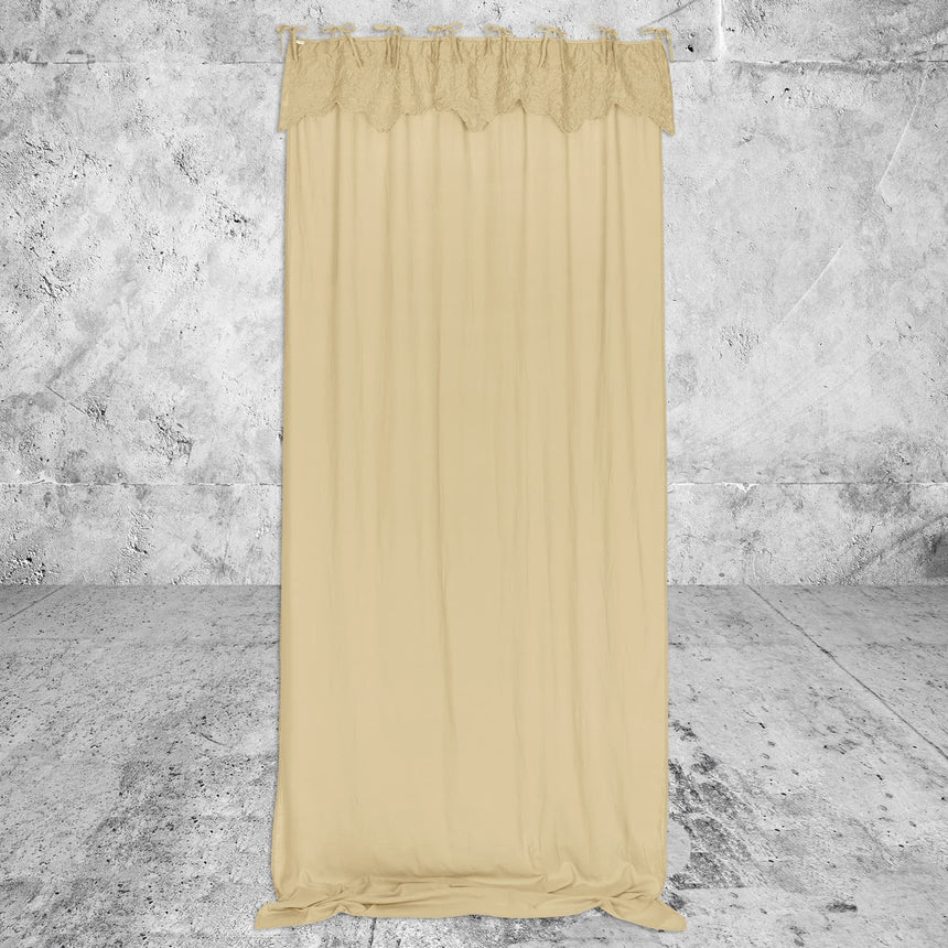 Numero 74 - Lanna Thai Curtain - Decor -  Mellow Yellow - S048