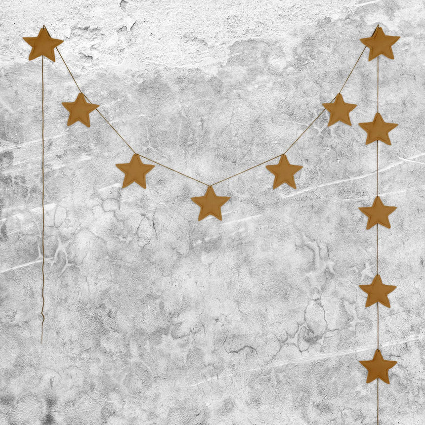 Numero 74 - Mini Star Garland - Gold - S024