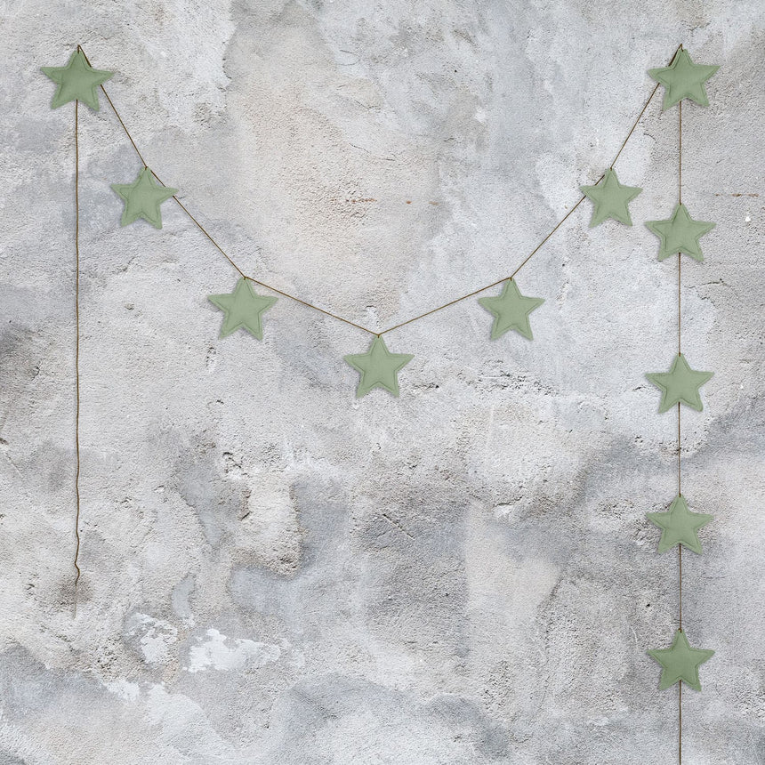 Numero 74 - Mini Star Garland - Sage Green - S049