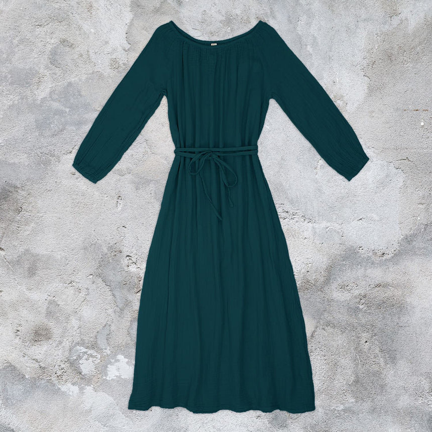 Numero 74 - Nina Long Dress  - Women - Teal Blue - S022