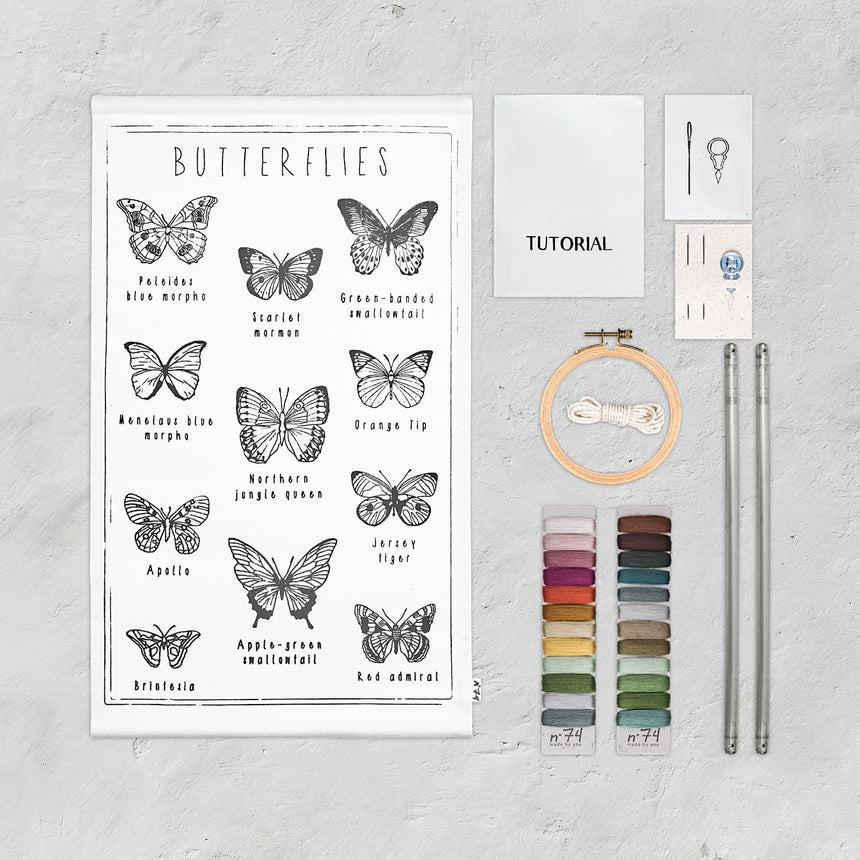 Numero 74 - School Poster Kit Butterflies - Natural-Multicolor - D117