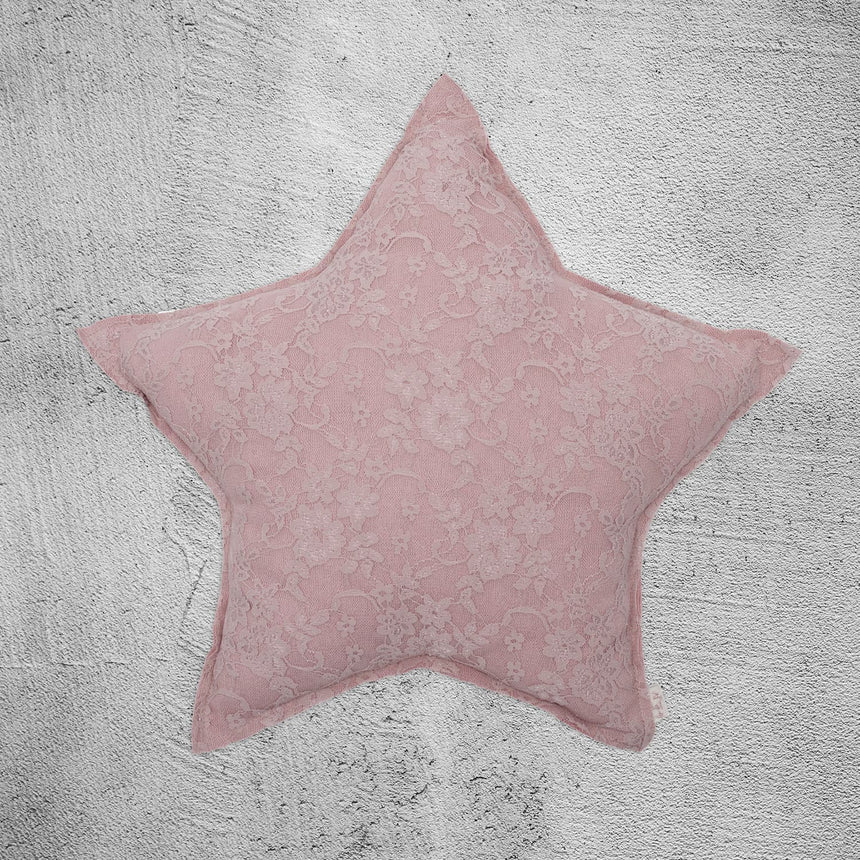 Numero 74 - Star Cushion - Flower Lace - Dusty Pink - S007