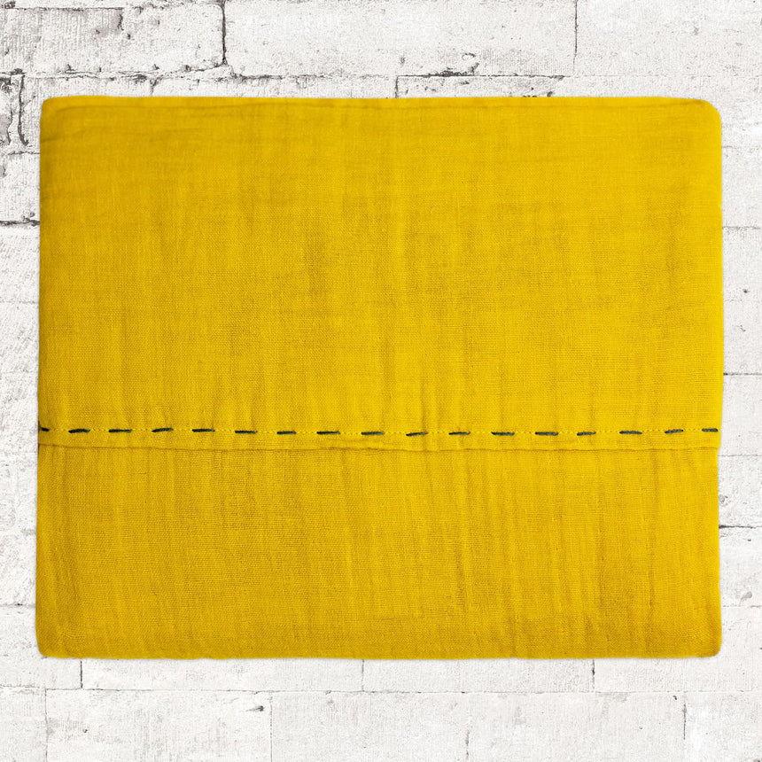 Numero 74 - Pure Knitted Blanket - Mellow Yellow - S048