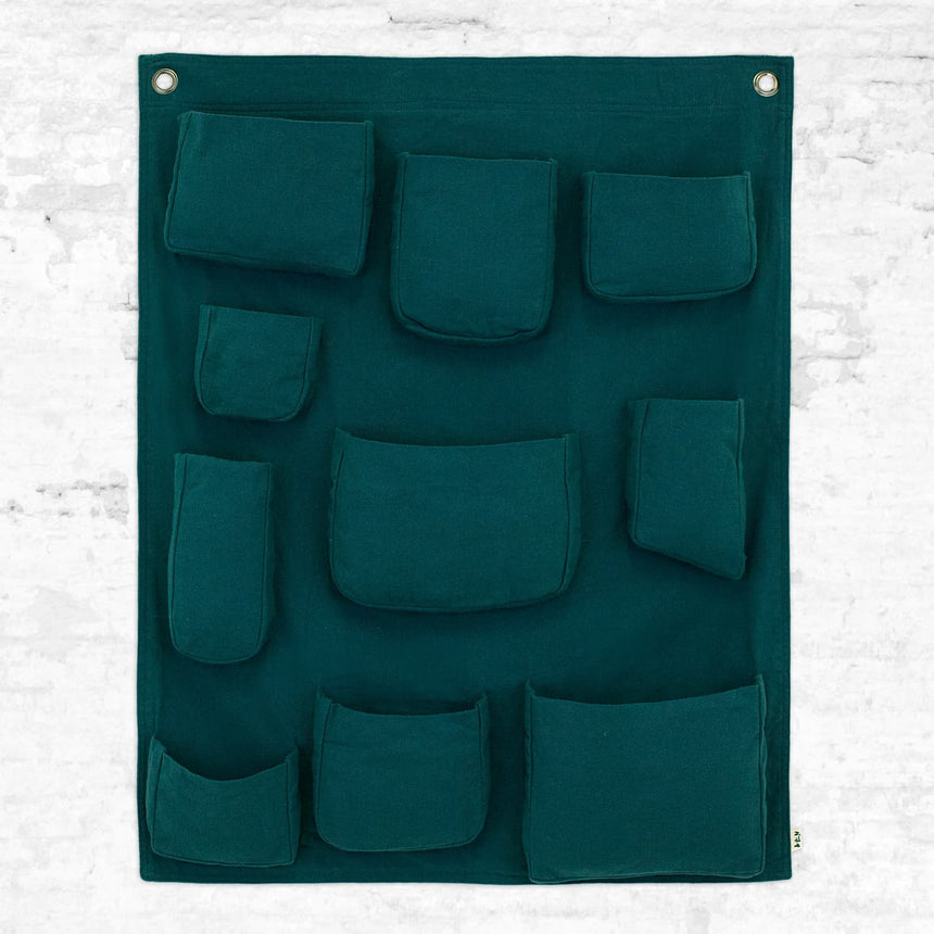 Numero 74 - Wall pocket - Teal Blue - S022
