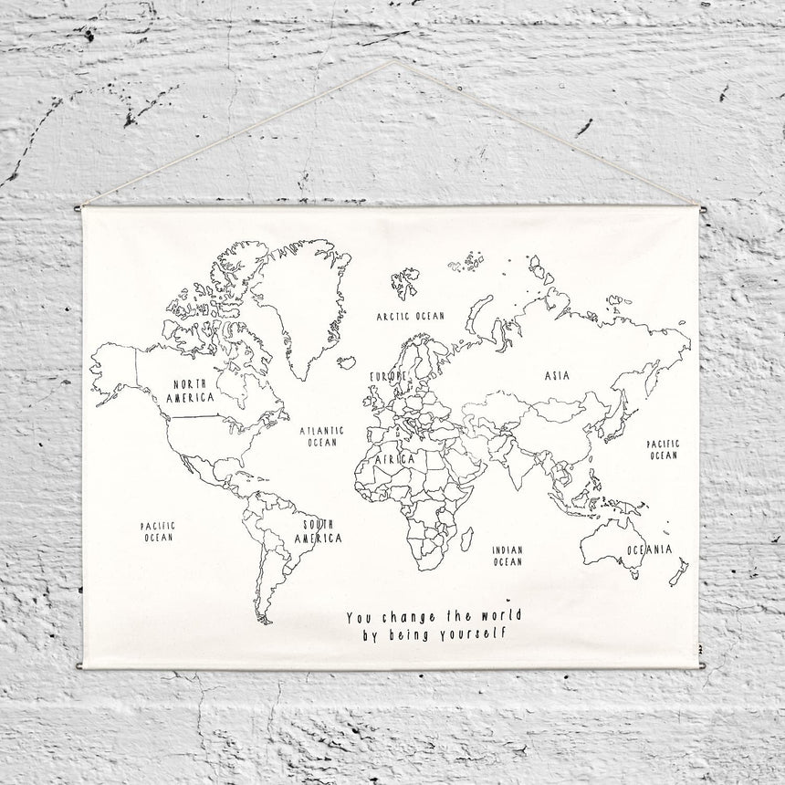 Numero 74 - World Map Poster Kit - Natural-Multicolor - D117