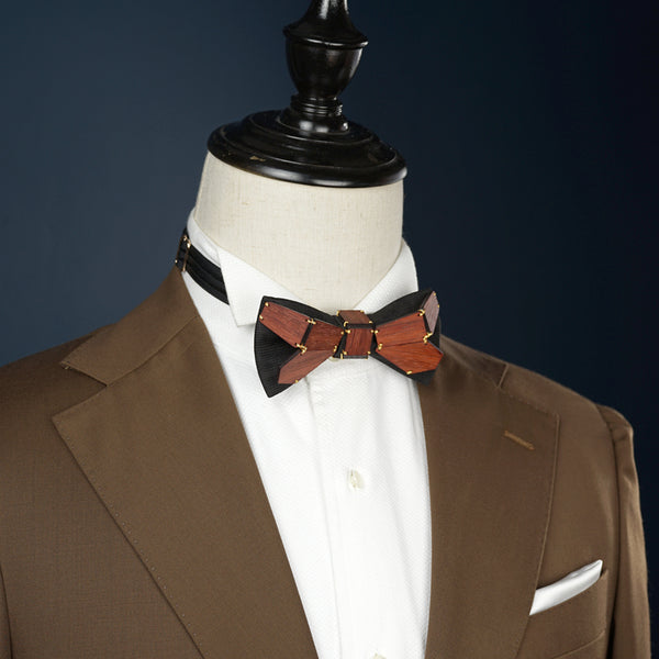 Geometry Series Wood Pre-tied Bowtie