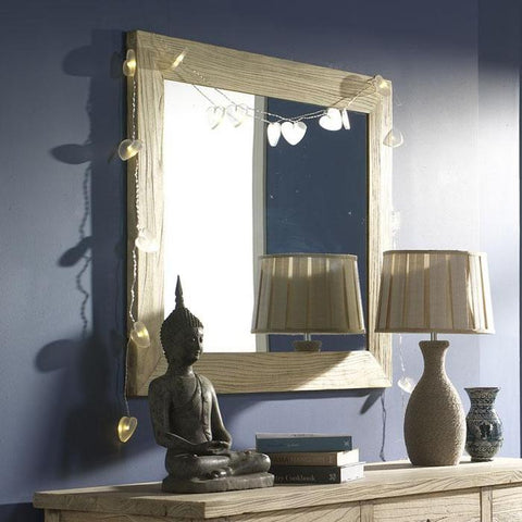Wall mirror in natural elm