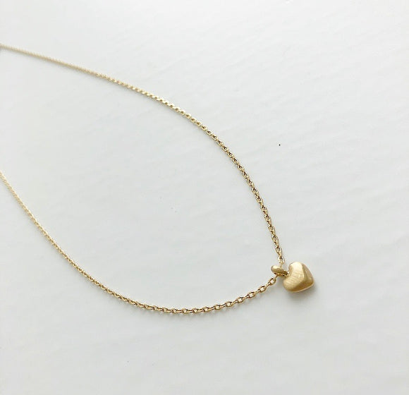 PILGRIM Gold Small Heart Necklace