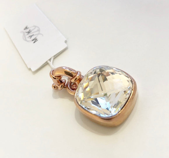 MYKA Rose Gold Cushion Detachable Pendent