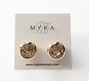 MYKA GOLD SILK SMALL ROUND EARRING