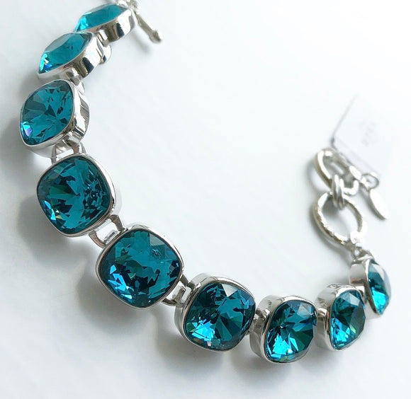 MYKA RHODIUM CUSHION BRACELET