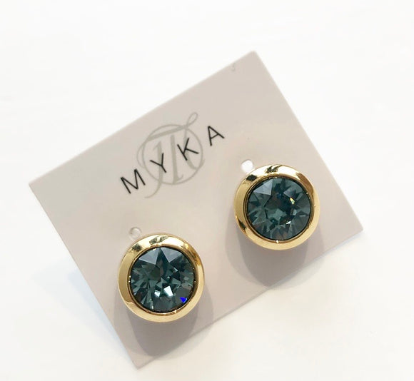 MYKA GOLD INDS SMALL ROUND EARRING