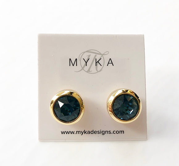 MYKA GOLD MONT SMALL ROUND EARRING