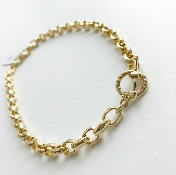 MYKA GOLD HAMMERED METAL CHAIN