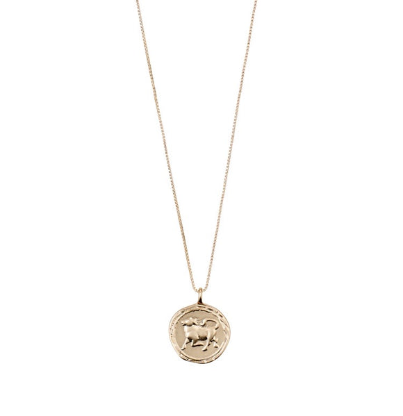 PILGRIM  GOLD HOROSCOPE NECKLACE