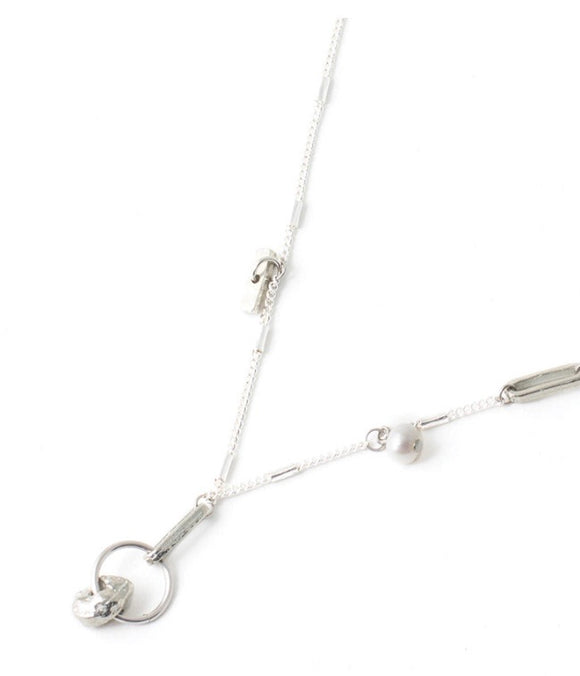 ANNE-MARIE CHAGNON NECKLACE BOB - PEWTER