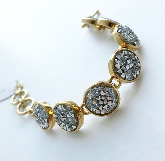 MYKA GOLD CRYSTAL ROCK BRACELET