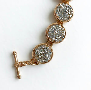 MYKA ROSE GOLD CRYSTAL ROCK BRACELET