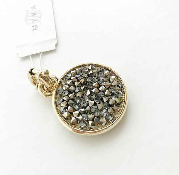 MYKA GOLD CRYSTAL ROCK PENDENT