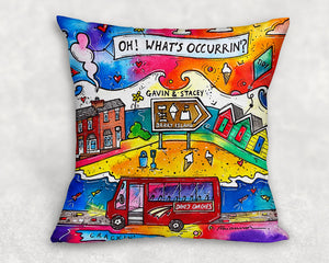Barry Island - A Crakin' Beach Cushion Cover