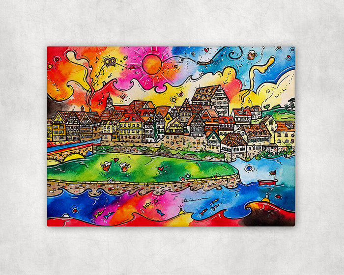 A Schwäbisch Hall Fairytale (Germany) Printed Canvas